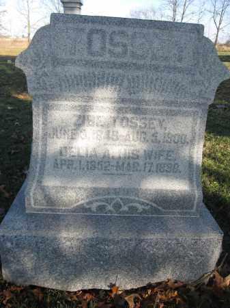TOSSEY, ZIBE - Union County, Ohio   ZIBE TOSSEY - Ohio Gravestone Photos