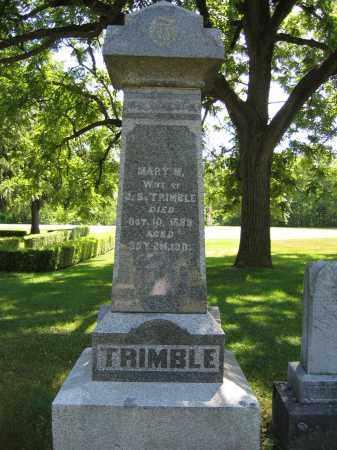 TRIMBLE, MARY M. - Union County, Ohio | MARY M. TRIMBLE - Ohio Gravestone Photos