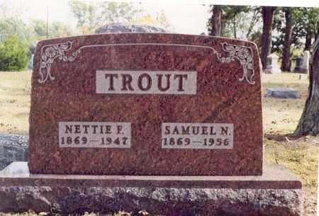 TROUT, NETTIE F - Union County, Ohio   NETTIE F TROUT - Ohio Gravestone Photos