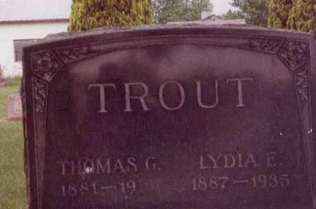 TROUT, THOMAS G - Union County, Ohio | THOMAS G TROUT - Ohio Gravestone Photos