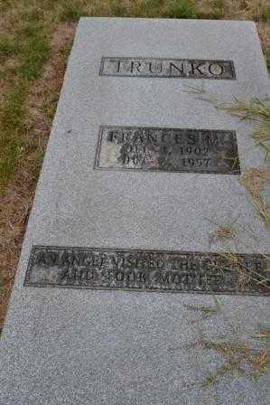 TRUNKO, FRANCES M. - Union County, Ohio | FRANCES M. TRUNKO - Ohio Gravestone Photos