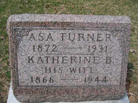 TURNER, KATHERINE B. - Union County, Ohio   KATHERINE B. TURNER - Ohio Gravestone Photos