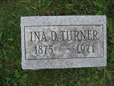 TURNER, INA D. - Union County, Ohio   INA D. TURNER - Ohio Gravestone Photos