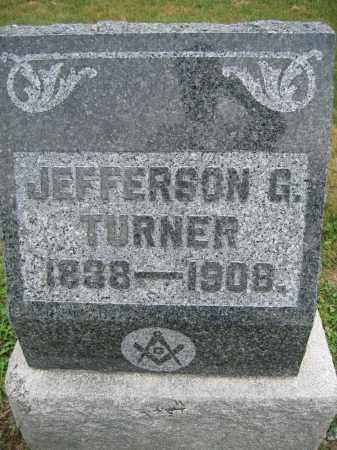 TURNER, JEFFERSON G. - Union County, Ohio   JEFFERSON G. TURNER - Ohio Gravestone Photos