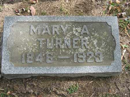 TURNER, MARY A. - Union County, Ohio   MARY A. TURNER - Ohio Gravestone Photos