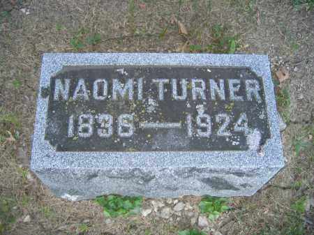 TURNER, NAOMI - Union County, Ohio   NAOMI TURNER - Ohio Gravestone Photos