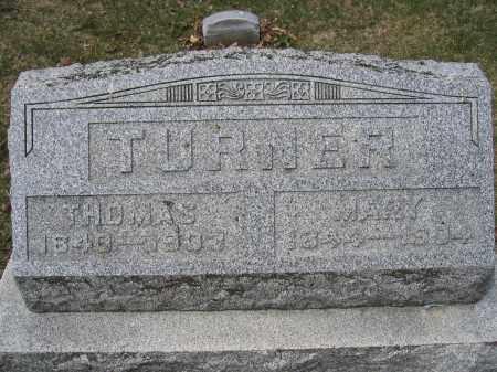 TURNER, MARY - Union County, Ohio | MARY TURNER - Ohio Gravestone Photos