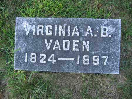 VADEN, VIRGINIA A.B. - Union County, Ohio   VIRGINIA A.B. VADEN - Ohio Gravestone Photos