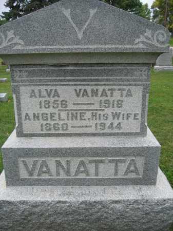 VANATTA, ANGELINE - Union County, Ohio | ANGELINE VANATTA - Ohio Gravestone Photos
