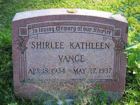 VANCE, SHIRLEE KATHLEEN - Union County, Ohio   SHIRLEE KATHLEEN VANCE - Ohio Gravestone Photos