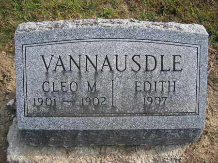 VANNAUSDLE, CLEO M. - Union County, Ohio | CLEO M. VANNAUSDLE - Ohio Gravestone Photos