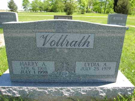 VOLLRATH, LYDIA A. - Union County, Ohio | LYDIA A. VOLLRATH - Ohio Gravestone Photos