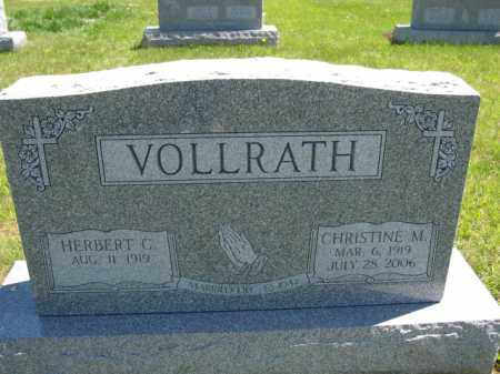 VOLLRATH, HERBERT C. - Union County, Ohio | HERBERT C. VOLLRATH - Ohio Gravestone Photos