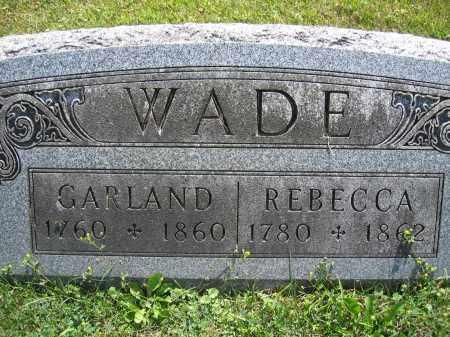 WADE, GARLAND - Union County, Ohio   GARLAND WADE - Ohio Gravestone Photos