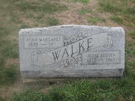WALKE, ANNA MARGARET - Union County, Ohio | ANNA MARGARET WALKE - Ohio Gravestone Photos