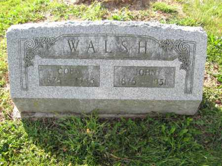 WALSH, JOHN - Union County, Ohio | JOHN WALSH - Ohio Gravestone Photos