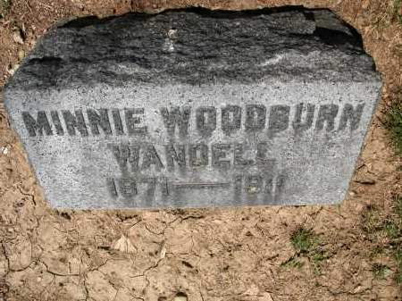 WANDELL, MINNIE WOODBURN - Union County, Ohio   MINNIE WOODBURN WANDELL - Ohio Gravestone Photos