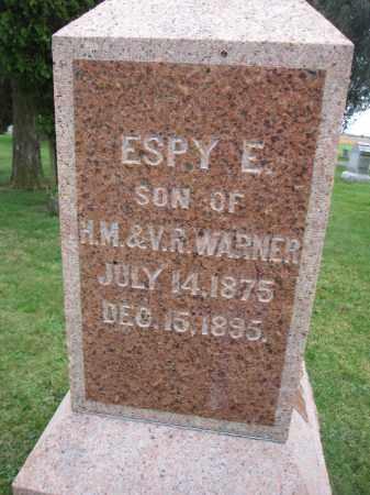WARNER, ESPY E. - Union County, Ohio | ESPY E. WARNER - Ohio Gravestone Photos
