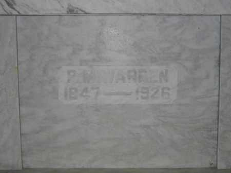 WARREN, P.M. - Union County, Ohio | P.M. WARREN - Ohio Gravestone Photos