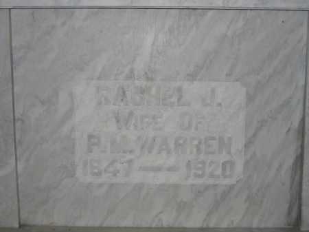 WARREN, RACHEL J. - Union County, Ohio | RACHEL J. WARREN - Ohio Gravestone Photos