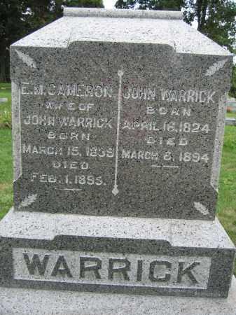 WARRICK, JOHN - Union County, Ohio | JOHN WARRICK - Ohio Gravestone Photos