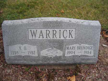 WARRICK, MARY BRUNDIGE - Union County, Ohio | MARY BRUNDIGE WARRICK - Ohio Gravestone Photos