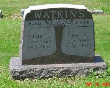 BENJAMIN WATKINS, IVA VIRGINIA - Union County, Ohio | IVA VIRGINIA BENJAMIN WATKINS - Ohio Gravestone Photos