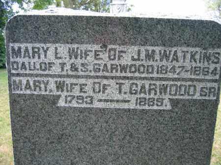 GARWOOD, MARY - Union County, Ohio   MARY GARWOOD - Ohio Gravestone Photos