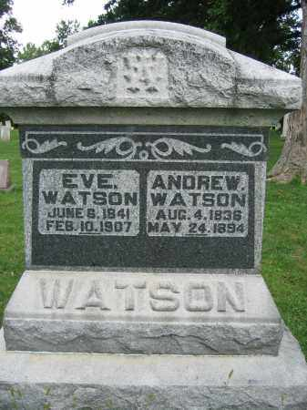 WATSON, EVE - Union County, Ohio | EVE WATSON - Ohio Gravestone Photos