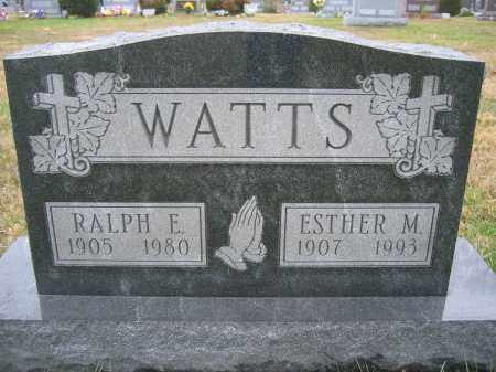 WATTS, RALPH E. - Union County, Ohio | RALPH E. WATTS - Ohio Gravestone Photos