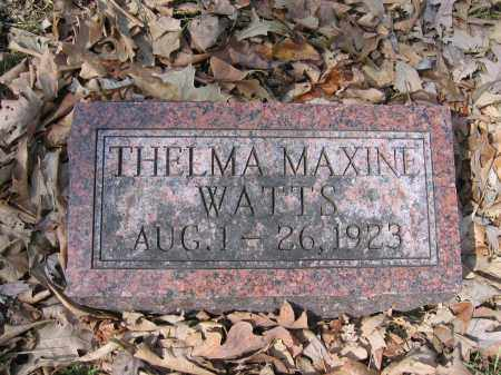 WATTS, THELMA MAXINE - Union County, Ohio | THELMA MAXINE WATTS - Ohio Gravestone Photos