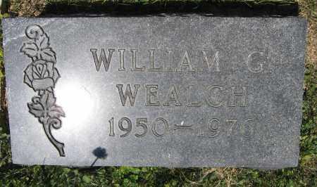 WEALCH, WILLIAM G. - Union County, Ohio | WILLIAM G. WEALCH - Ohio Gravestone Photos