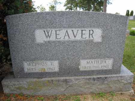 WEAVER, MATILDA - Union County, Ohio | MATILDA WEAVER - Ohio Gravestone Photos