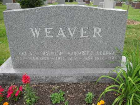 WEAVER, J. BERNARD - Union County, Ohio   J. BERNARD WEAVER - Ohio Gravestone Photos