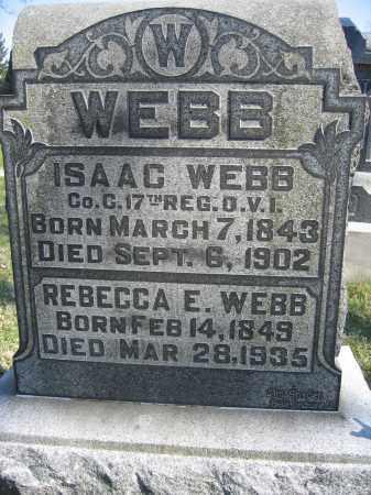 WEBB, REBECCA E. - Union County, Ohio   REBECCA E. WEBB - Ohio Gravestone Photos