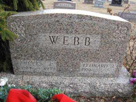 WEBB, BETTY J. - Union County, Ohio | BETTY J. WEBB - Ohio Gravestone Photos