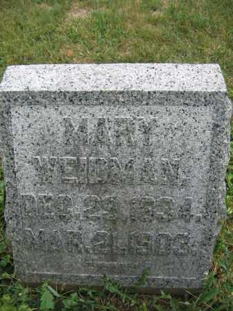 WEIDMAN, MARY - Union County, Ohio | MARY WEIDMAN - Ohio Gravestone Photos
