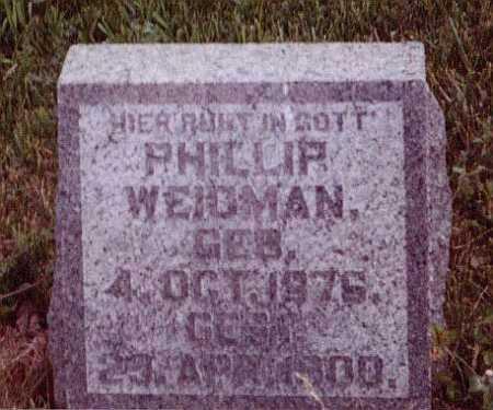 WEIDMAN, PHILLIP - Union County, Ohio | PHILLIP WEIDMAN - Ohio Gravestone Photos