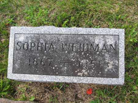 WEIDMAN, SOPHIA - Union County, Ohio | SOPHIA WEIDMAN - Ohio Gravestone Photos