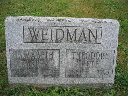 WEIDMAN, THEODORE - Union County, Ohio | THEODORE WEIDMAN - Ohio Gravestone Photos