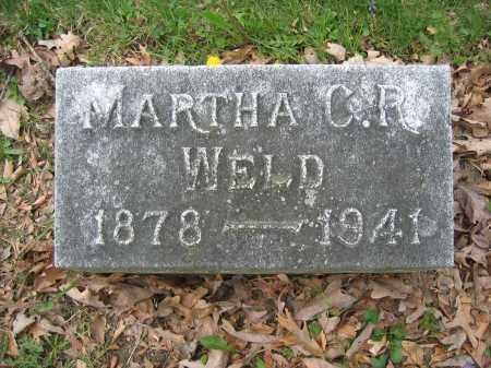 WELD, MARTHA C.R. - Union County, Ohio | MARTHA C.R. WELD - Ohio Gravestone Photos