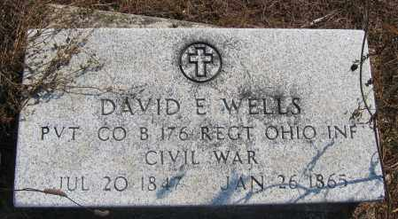 WELLS, DAVID E. - Union County, Ohio | DAVID E. WELLS - Ohio Gravestone Photos