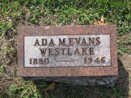 WESTLAKE, ADA M. EVANS - Union County, Ohio | ADA M. EVANS WESTLAKE - Ohio Gravestone Photos