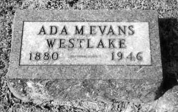 WESTLAKE, ADA M. EVANS - Union County, Ohio | ADA M. EVANS WESTLAKE - Ohio Gravestone Photos
