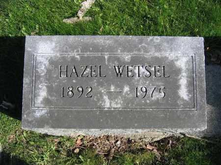 WETSEL, HAZEL - Union County, Ohio | HAZEL WETSEL - Ohio Gravestone Photos