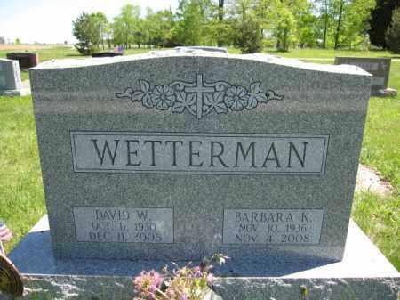 WETTERMAN, BARBARA K. - Union County, Ohio | BARBARA K. WETTERMAN - Ohio Gravestone Photos