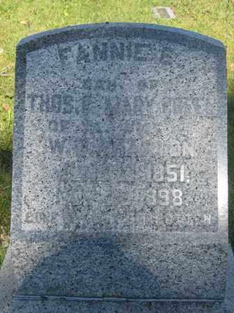 WHARTON, FANNIE E. - Union County, Ohio   FANNIE E. WHARTON - Ohio Gravestone Photos