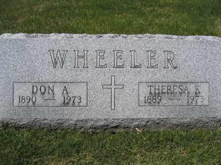 WHEELER, DON A - Union County, Ohio | DON A WHEELER - Ohio Gravestone Photos