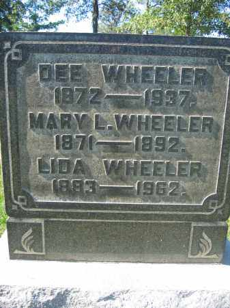 WHEELER, LIDA - Union County, Ohio | LIDA WHEELER - Ohio Gravestone Photos
