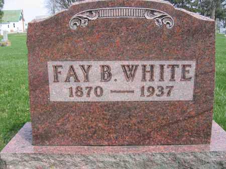 WHITE, FAY B. - Union County, Ohio | FAY B. WHITE - Ohio Gravestone Photos